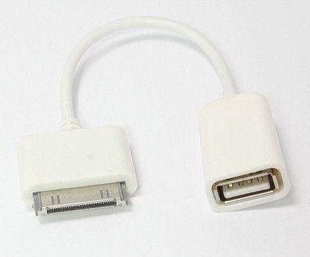 Conector adaptador OTG Apple Dock 30 pines a USB hembra