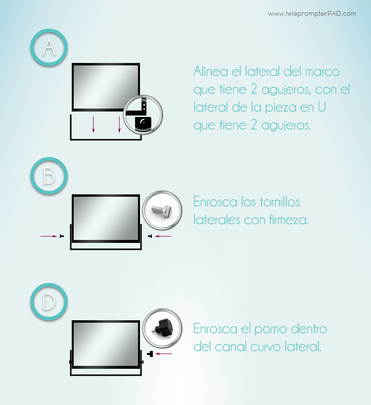 montar-o-reemplazar-cristal-teleprompter-ilight-pro-infografia