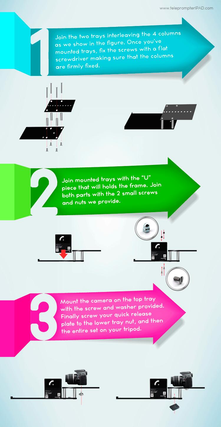 assemble teleprompter-tp-ilight-pro-infografia
