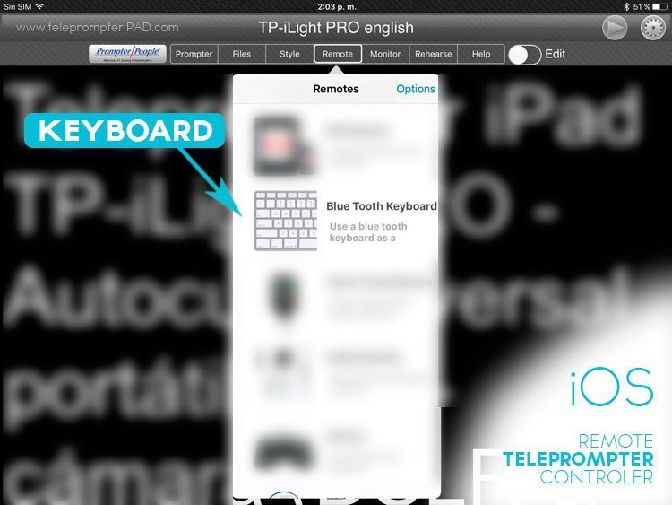 Teleprompter remote - how to use it | TeleprompterPAD com